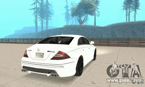 Mercedes-Benz CLS 63 AMG for GTA San Andreas back left view