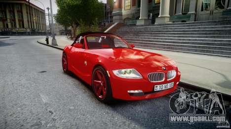 BMW Z4 Roadster 2007 i3.0 Final for GTA 4 inner view