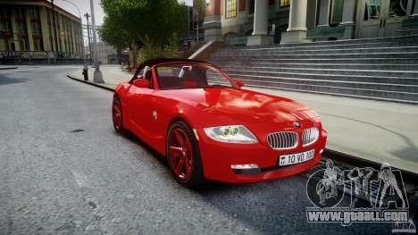 BMW Z4 Roadster 2007 i3.0 Final for GTA 4 inner view
