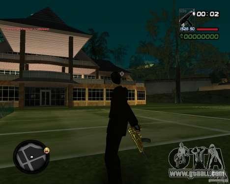Tec 9 GOLD for GTA San Andreas second screenshot