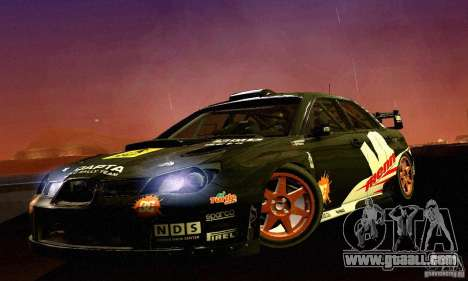 Subaru Impreza WRC 2007 for GTA San Andreas left view