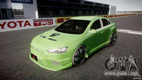 Mitsubishi Lancer Evolution X Tuning for GTA 4 side view