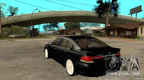 BMW Alpina B7 for GTA San Andreas back left view