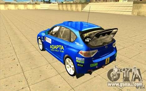 Subaru Impreza WRX STi with new vinyl unique for GTA San Andreas bottom view
