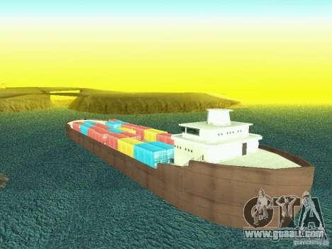 Drivable Cargoship for GTA San Andreas forth screenshot