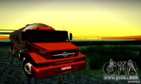 Mercedes-Benz L1620 Tanque for GTA San Andreas back view