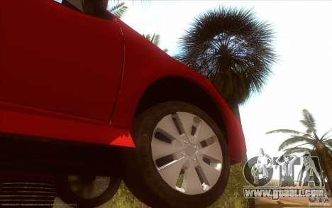 Kia Rio for GTA San Andreas back view