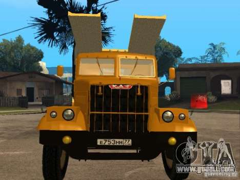 KrAZ 255 auto transporter for GTA San Andreas left view