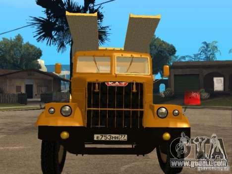 KrAZ 255 auto transporter for GTA San Andreas left view