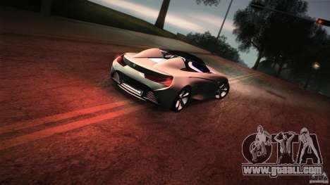 BMW Vision Connected Drive Concept for GTA San Andreas bottom view