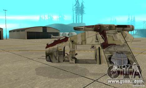 Republic Gunship from Star Wars for GTA San Andreas left view