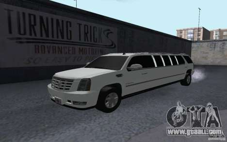 Cadillac Escalade 2008 Limo for GTA San Andreas