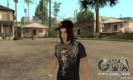 Criss Angel Skin for GTA San Andreas second screenshot