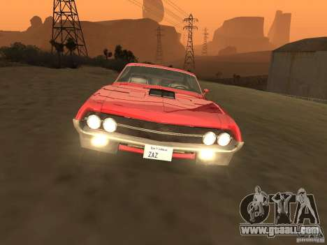 Ford Torino Cobra 1970 Tunable for GTA San Andreas inner view