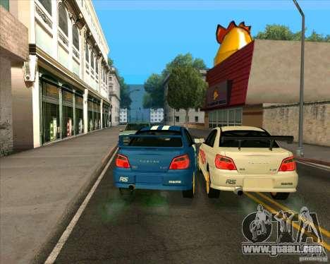 Subaru Impreza WRX STi Tunable for GTA San Andreas back left view