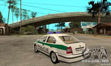 Skoda Octavia Police CZ for GTA San Andreas back left view