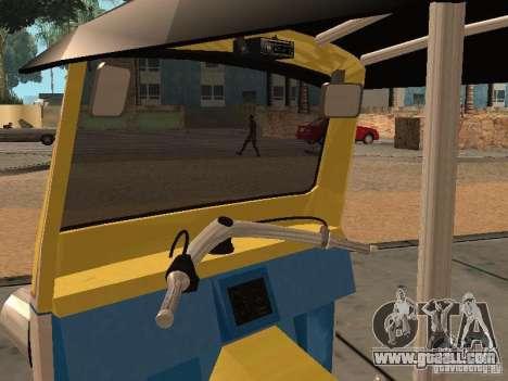 Tuk Tuk Thailand for GTA San Andreas back view