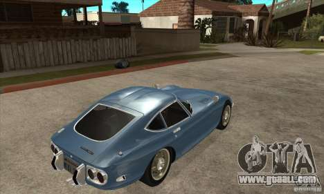 Toyota 2000GT for GTA San Andreas right view