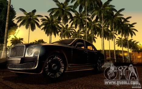 Bentley Mulsanne 2010 v1.0 for GTA San Andreas bottom view