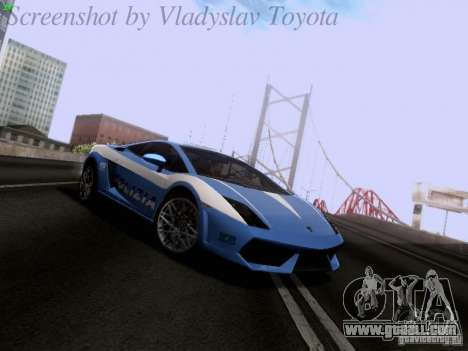 Lamborghini Gallardo LP560-4 Polizia for GTA San Andreas