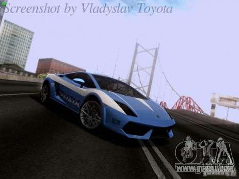 Lamborghini Gallardo LP560-4 Polizia for GTA San Andreas
