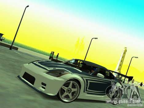Nissan 350z Tea Hair for GTA San Andreas right view