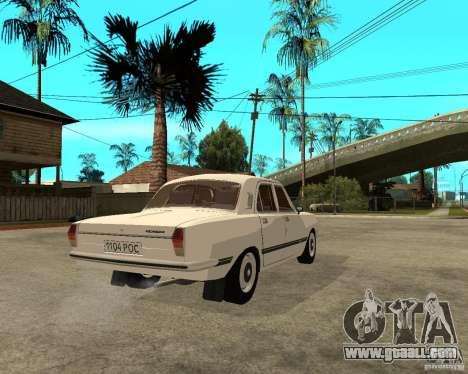 Volga GAZ 24-10 051 for GTA San Andreas back left view