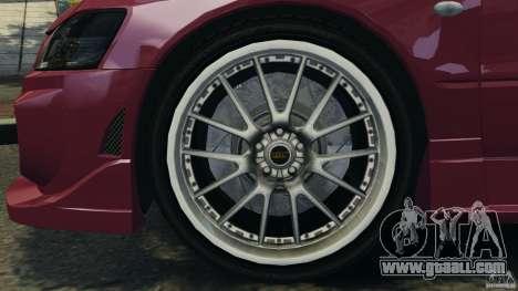 Mitsubishi Lancer Evolution 8 for GTA 4 inner view