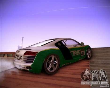 Audi R8 Shift for GTA San Andreas right view