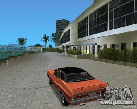 1970 Dodge Challenger R/T Hemi for GTA Vice City right view