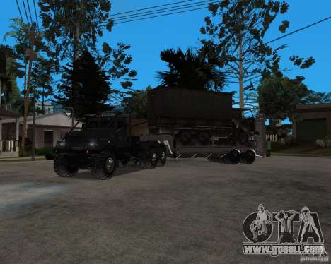 KrAZ 255 + trailer artict2 for GTA San Andreas left view