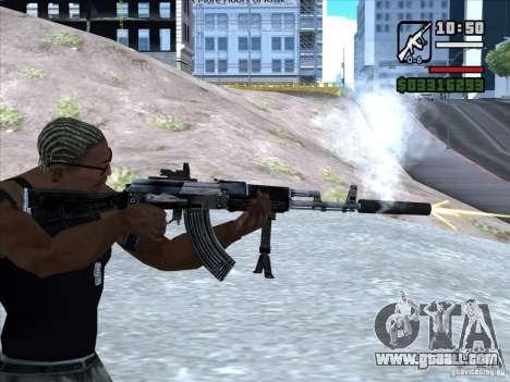AK-103 from WARFACE for GTA San Andreas forth screenshot