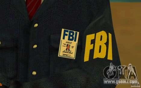 HQ skin FBI for GTA San Andreas fifth screenshot