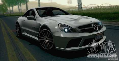 Mercedes-Benz SL65 AMG Black Series for GTA San Andreas back left view