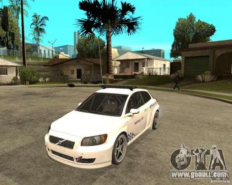 VOLVO C30 SAFETY CAR STCC v2.0 for GTA San Andreas
