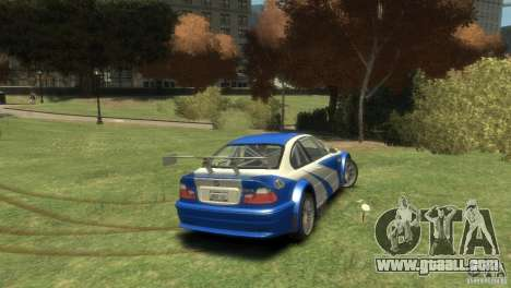 BMW M3 GTR NFS MOST WANTED for GTA 4 right view
