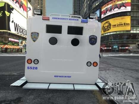 Lenco Bearcat NYPD ESU V.2 for GTA 4 back left view