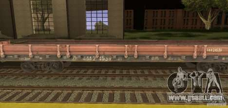 Flatcar 44424539 for GTA San Andreas left view