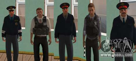 Skin Pack of the Russian INTERNAL AFFAIRS for GTA San Andreas