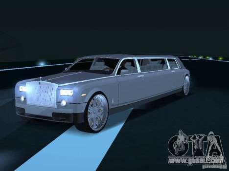 Rolls-Royce Phantom Limousine chauffeur 2003 for GTA San Andreas right view