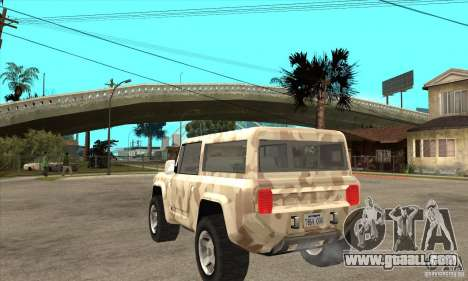 Ford Bronco Concept for GTA San Andreas back left view