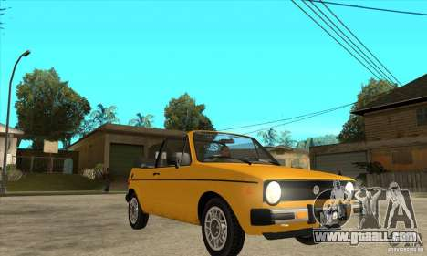 Volkswagen Rabbit Convertible for GTA San Andreas back view