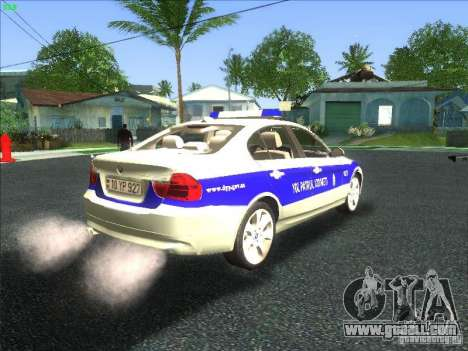 BMW 330i YPX for GTA San Andreas back view