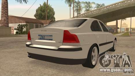 Volvo S60R for GTA San Andreas side view
