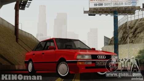Audi 90 Quattro for GTA San Andreas back left view
