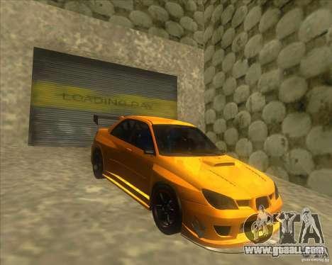 Subaru Impreza STi tuned for GTA San Andreas