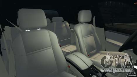 BMW X5 xDrive30i for GTA 4 inner view