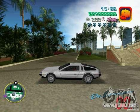 DeLorean DMC 12 for GTA Vice City upper view