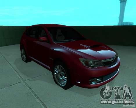 Subaru Impreza WRX STI Stock for GTA San Andreas