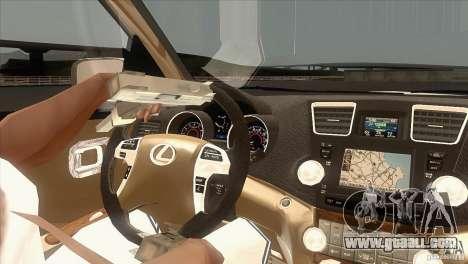 Lexus RX350 for GTA San Andreas inner view